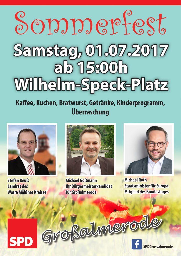 Sommerfest SPD 2017 Plakat A3